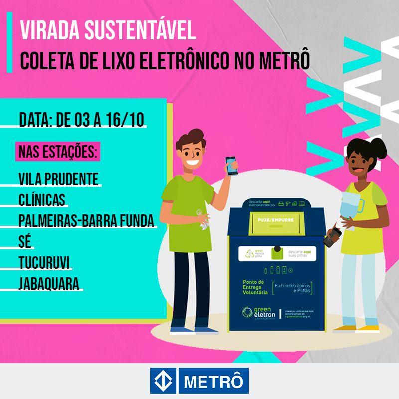 green eletron metrô